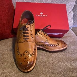 NEW NWT Grenson Archie Tan Dress Shoe